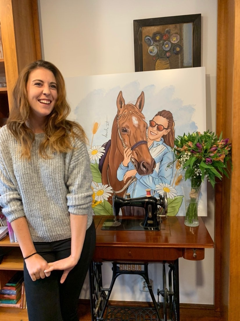 Portrait on order: Dominika with her horse
