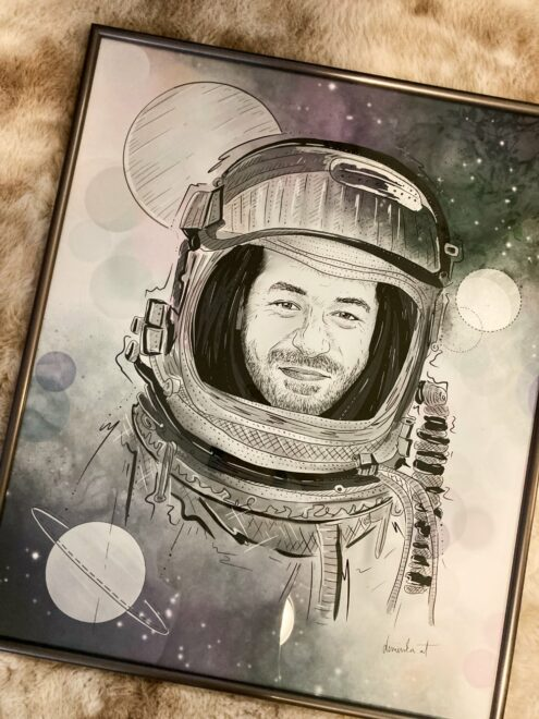 Birthday portrait for space enthusiast
